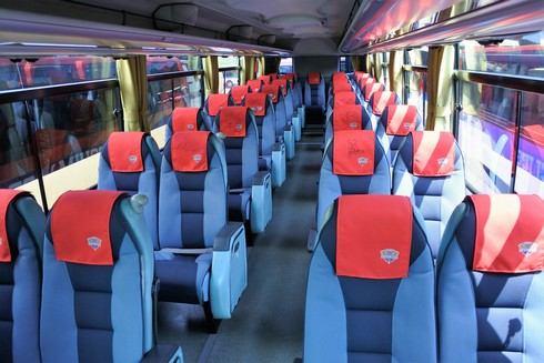 広島ドラゴンフライズ 専用バス