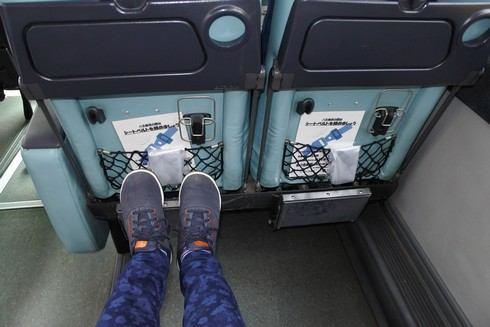 広島ドラゴンフライズバス、座席の間隔も広々