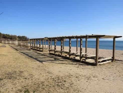 県民の浜の桟敷席
