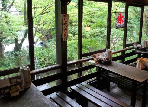 三瀧寺境内にある 空点庵店内の様子