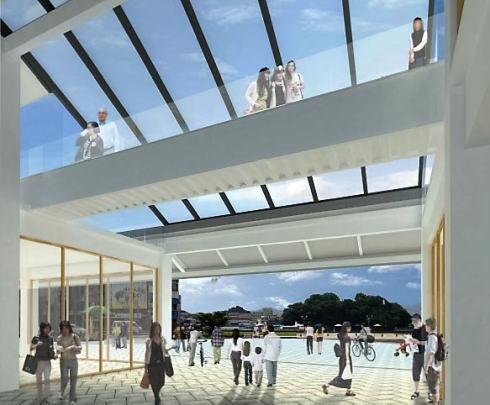 尾道駅 建て替え後のイメージ