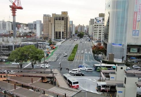 広島駅前の風景と工事の始まったBブロック