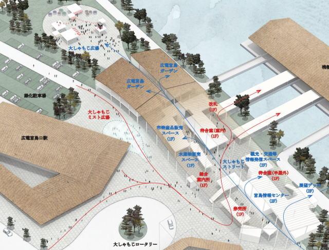 厳島港宮島口地区旅客ターミナル イメージ