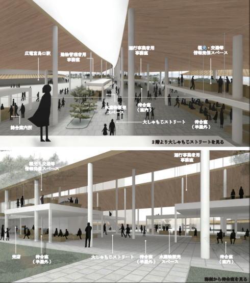 厳島港宮島口地区旅客ターミナル 内部のイメージ