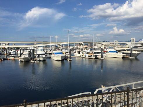 広島市 メゾンデュルバンの目の前にある係留桟橋