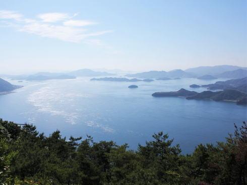 三原市 筆影山、車で行ける瀬戸の多島美展望スポット