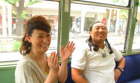 友近とロバート秋山 路面電車のある風景