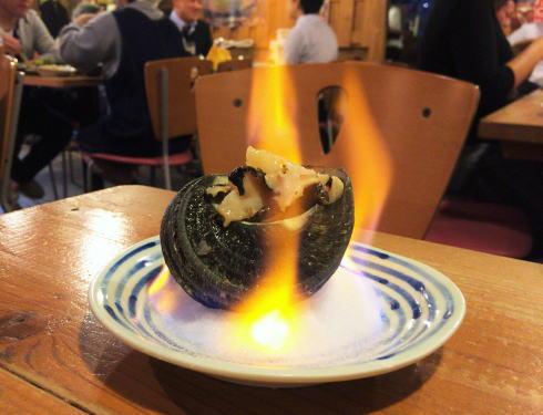 広島駅 波平キッチン サザエのつぼ焼き