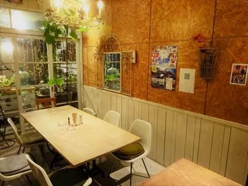 福山市 コージーカフェグレイス 店内の様子