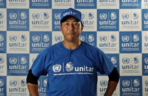 黒田の青ユニフォームにドキッ!国連ユニタールの活動で