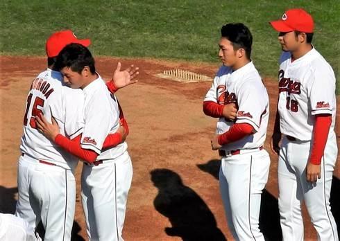広島カープの黒田博樹投手、引退セレモニー