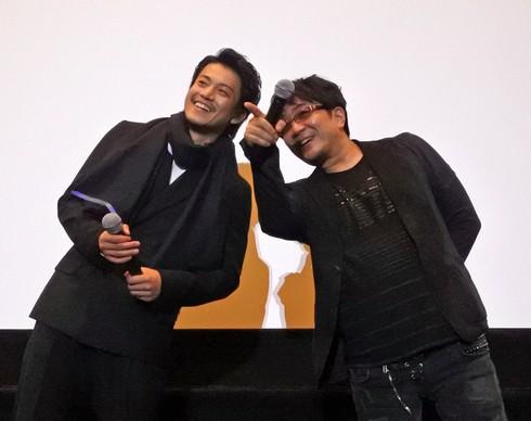 小栗旬と大友監督、映画「ミュージアム」舞台挨拶で広島へ