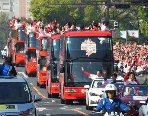 2016広島東洋カープ 優勝パレード パレード隊俯瞰写真2