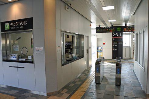 大野浦駅の改札口
