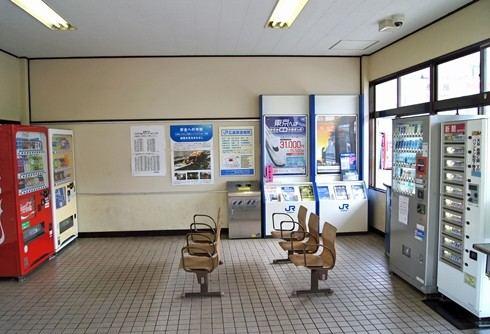 大野浦駅、昔の駅舎にあった待合スペース