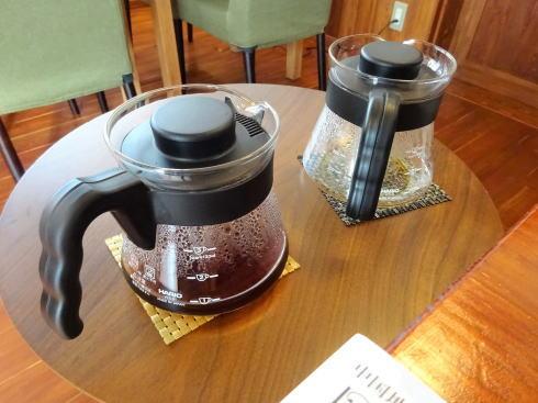 庄原・安原旅館に珈琲屋 洗心館(カフェ) コーヒーのおかわり