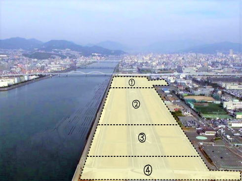 広島西飛行場跡地 活用エリアイメージ