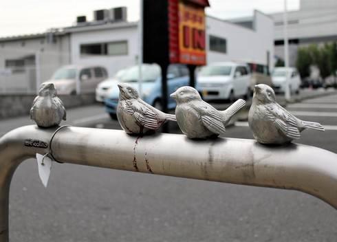 サンポール 車止め 小鳥が乗ったピコリーノ