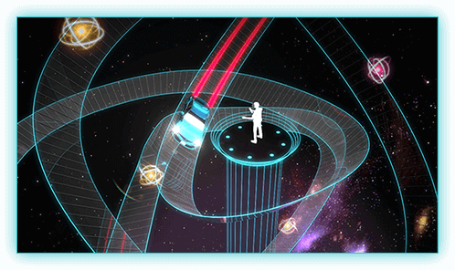 宇宙サーキットをVR体験!クリップ広島でプロジェクションマッピングも