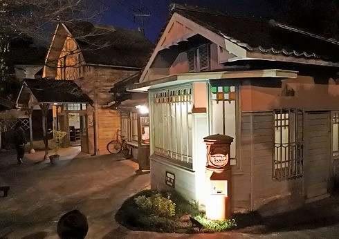 いつか来た道、みろくの里に昭和30年代にタイムスリップした町並み