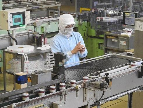 アヲハタ 工場見学の様子1