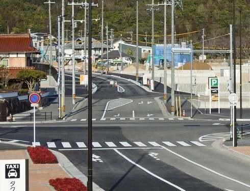 寺家駅北口には、新しい道が