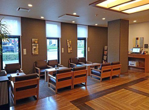 ホテルルートイン東広島、1Fロビー