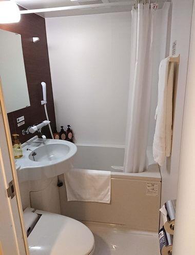 ホテルルートイン東広島、客室のユニットバス