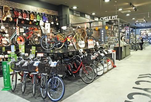 カインズ広島LECT店のサイクルガレージ