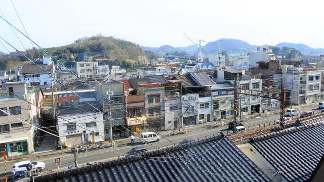 尾道 さくらcafe 店内から窓の外の風景