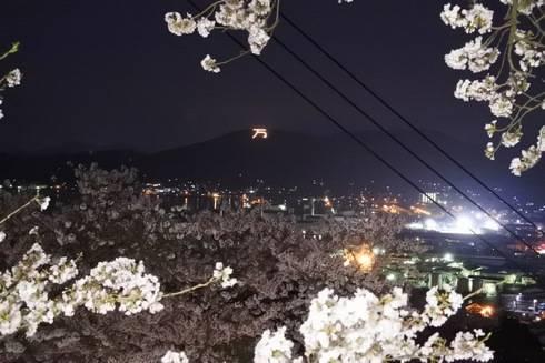 正福寺山公園から見える「万」の字
