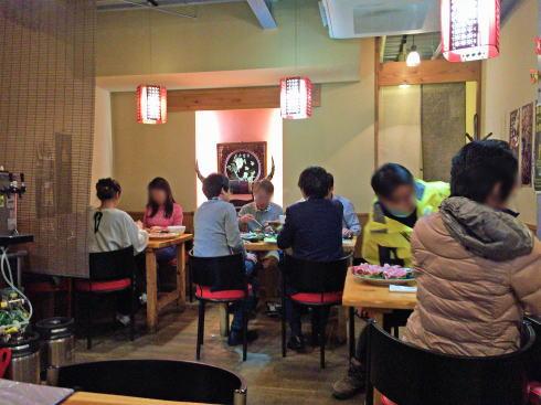 尾道市 中華料理 東方記の店内の様子