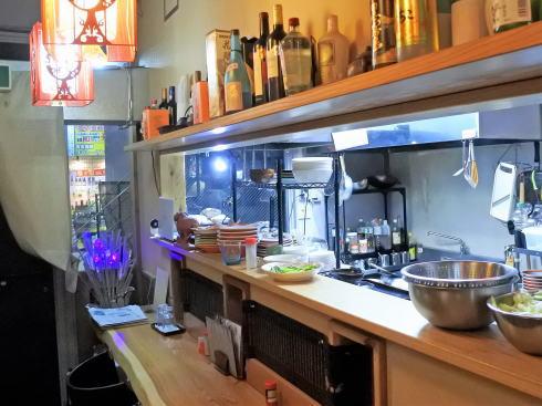 尾道市 中華料理 東方記の店内の様子 カウンター