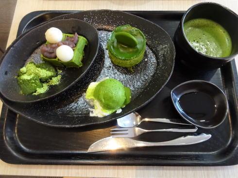 広島市 茶の環本店 抹茶プレートセット