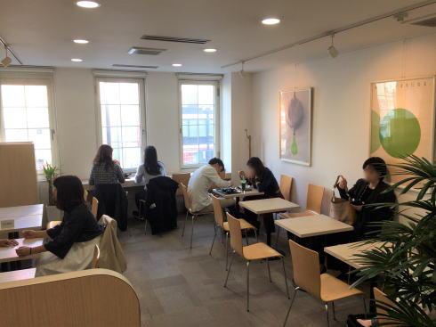 広島市 茶の環本店 チャフェ3階の様子