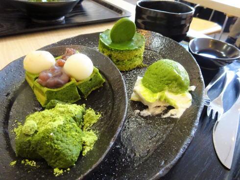 広島市 茶の環本店のチャフェで贅沢抹茶スイーツ