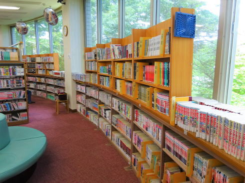 広島市まんが図書館 館内の様子3