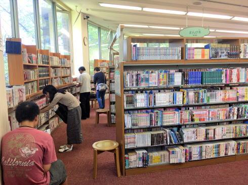 広島市まんが図書館 館内の様子10