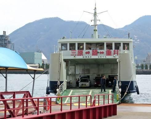 三原港、佐木島や生口島に向かうフェリー