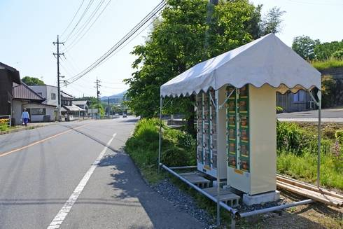 みかんの自動販売機、熊野町に