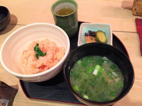 広島市 にかいのおねぎや笹木 ごはん・汁物