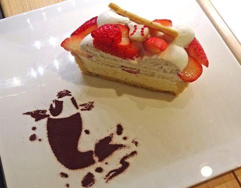 カフェコムサ 福屋広島駅前店 カープ応援ケーキ