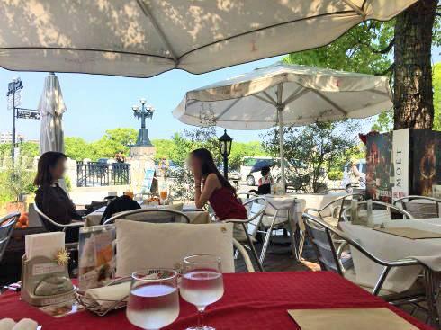 平和公園前 カフェポンテ テラス席からの眺め
