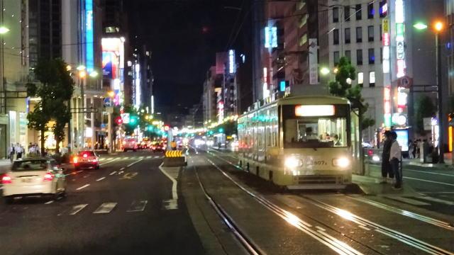 広島市内の広電電停からの風景