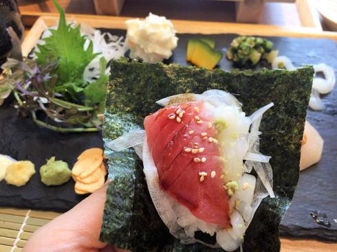 広島市 SUSHIにぎり座 手織り寿司2