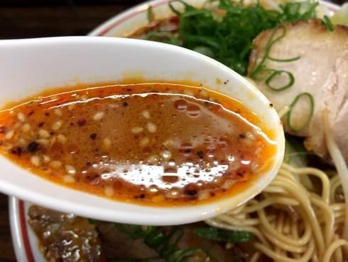 山創のうま辛ラーメン スープ