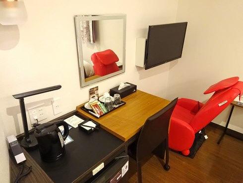 ホテル川島、客室にマッサージチェア