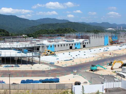 広島 西風新都イオンモール 建設中の様子