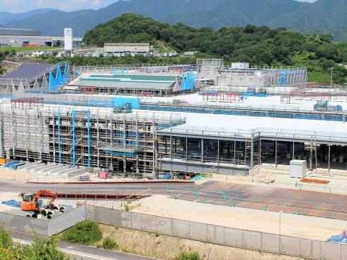 広島 西風新都イオンモール 建設中の様子2