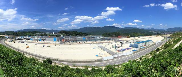 広島 西風新都イオンモール 建設中の様子 パノラマ写真